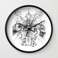motorbike Wall Clocks featuring Motorbike. by sonigque