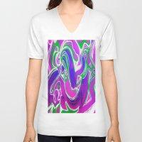 flight V-neck T-shirts featuring Flight by AMANDA MORIE