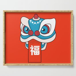 Happy Chinese New Year - Lion Dance Serving Tray