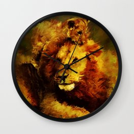 Lion Family Wall Clock
