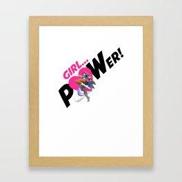 Girl POWER! Game Girl ChunLi Framed Art Print