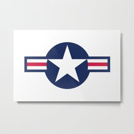 US Airforce style roundel star - High Quality image Metal Print