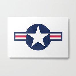US Airforce style roundel star Metal Print