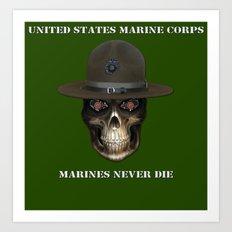 Marines never die. Art Print