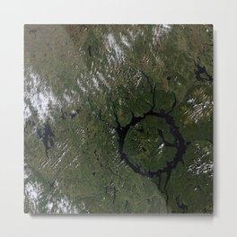 Lac Manicouagan Metal Print
