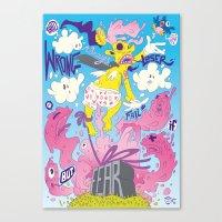 fear Canvas Prints featuring Fear by Matteo Cuccato - Strudelbrain