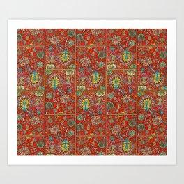 Bursts of India Jacobean - Victorio Road Series Art Print