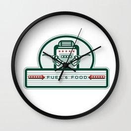 Crossed Fuel Nozzle Gas Pump Retro Wall Clock