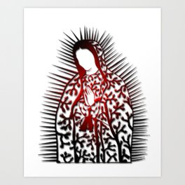 La Virgen De Joshua Tree by CREYES Art Print