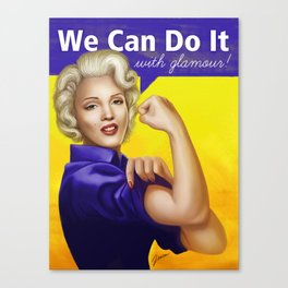 We can do it with glamour! Canvas Print