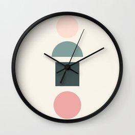 Modern geometric abstract 13 - pattern Wall Clock