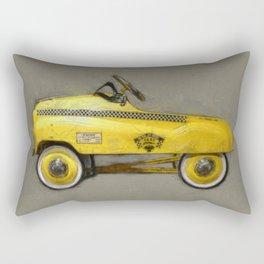 Yellow Taxi Pedal Car Rectangular Pillow