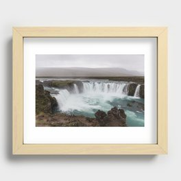 Godafoss waterfall in Iceland - nature landscape Recessed Framed Print