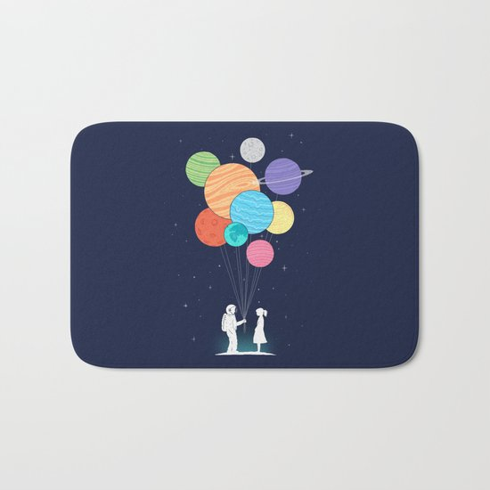 You are my universe Bath Mat