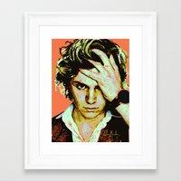 kris tate Framed Art Prints featuring Tate by Aubrey Meeks