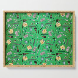 Painter's Supplies - Green Serving Tray