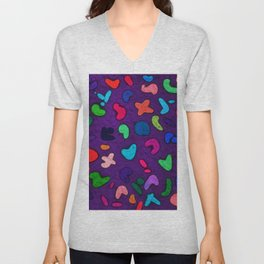 Seamless Colorful Geometric Pattern XXXIII Unisex V-Neck