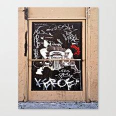 Grafitti Door - Creep Canvas Print