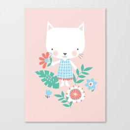 Monty Mouse and Carlie Cat Canvas Print