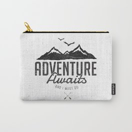 ADVENTURE AWAITS Carry-All Pouch