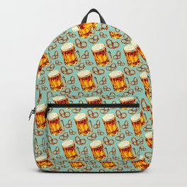 Beer & Pretzel Pattern Backpack