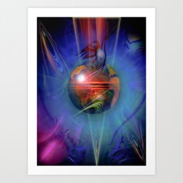 Our world is magic - Freedom Art Print