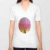 blush V-neck T-shirts featuring Winter's blush by maggs326