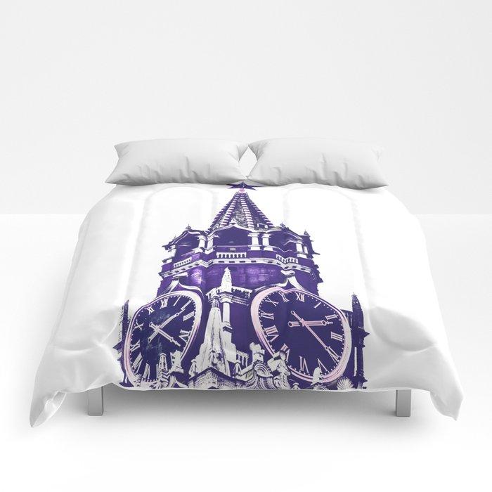 Kremlin Chimes-violet Comforters