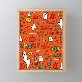 All the Spooky Things Framed Mini Art Print