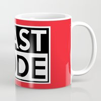 depeche mode Mugs featuring BEAST MODE by Adel