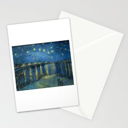 Van Gogh, Starry Night Over The Rhone Artwork Reproduction, Posters, Tshirts, Prints, Bags, Men, Wom Stationery Cards