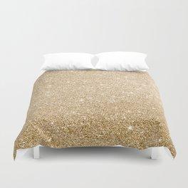 Modern abstract elegant chic gold glitter Duvet Cover