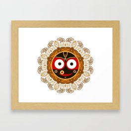 Jagannath. Indian God of the Universe. Lord Jagannatha. Framed Art Print