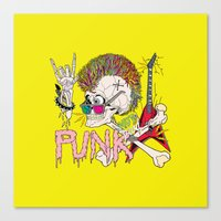 punk Canvas Prints featuring Punk by dogooder