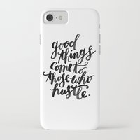 hustle iPhone & iPod Cases featuring hustle by rachmills