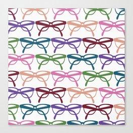 Optometrist Eye Glasses Pattern Print Canvas Print