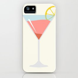 Martini Alcohol Drink Illustration iPhone Case
