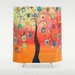 Fiesta Tree Shower Curtain