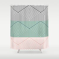 bali Shower Curtains featuring bali by guapa.