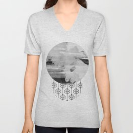 'Planets' minimal styled geometrc design and abstract painting Unisex V-Neck