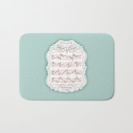 The Sound of My Heart Beat Bath Mat