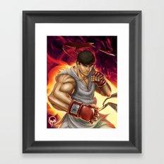 Ryu Street Fighter Framed Art Print