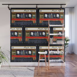 Retro classic vintage gold mix cassette tape Wall Mural