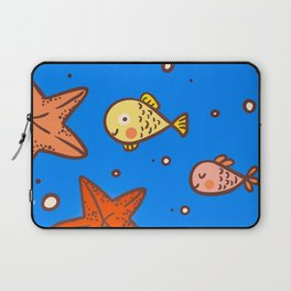 Cute Retro SeaLife Seamless Pattern Laptop Sleeve