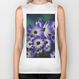 Blue & White Daisy Flowers #1 #floral #decor #art #society6 Biker Tank