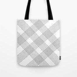 Crossing lines Tote Bag