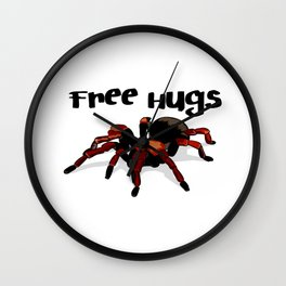 Free Tarantula Spider Hugs Wall Clock