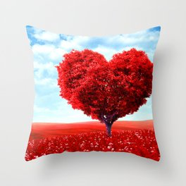 Cosmic love tree 3 Throw Pillow