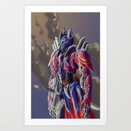 Knight of Cybertron  Art Print