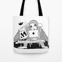 swedish Tote Bags featuring Swedish Alliteration by Karin Ohlsson